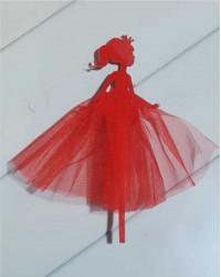 """Топпер """"Принцесса"""",в красном цвете"""