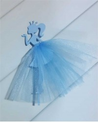 """Топпер """"Принцесса"""", вариант №1, цвет голубой"""
