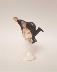 Керамические статуэтки Жениха и Невесты с юмором, 15416B