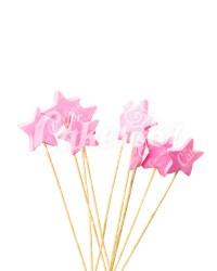 «Звездочки» на шпажках розовые для надписей, Казахстан