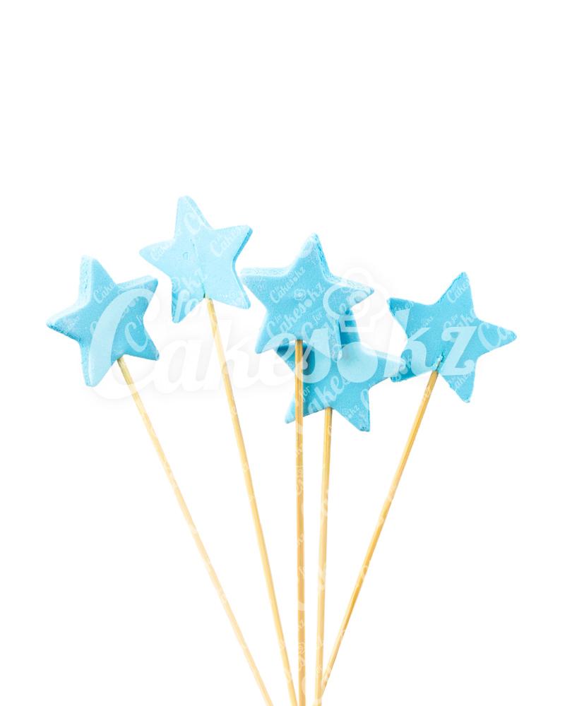 «Звездочки» на шпажках голубые для надписей, Казахстан