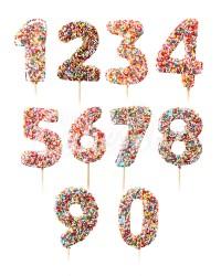 Сахарные фигурки из мастики «Цифры Конфети», Казахстан