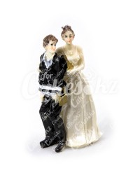 Керамические статуэтки Жениха и Невесты с юмором, 15414B