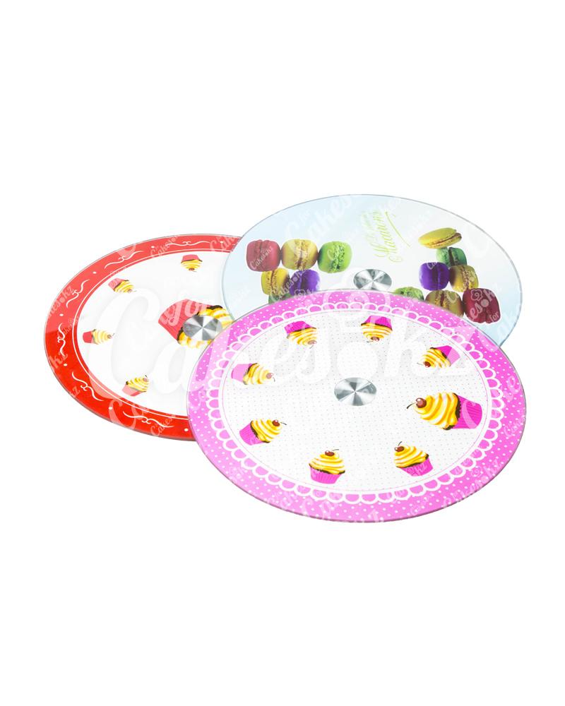 Поворотный столик для декорирования тортов, стекло