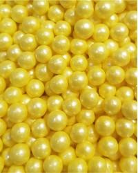 Посыпка кондитерская «Жемчуг Желтый 6 мм»