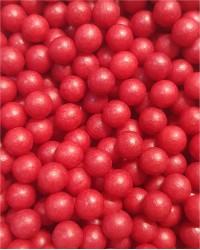 Посыпка кондитерская «Жемчуг Красный матовый 6 мм»