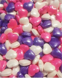 Посыпка кондитерская «Сердечки крупные Фиолетово-Бело-Розовые»