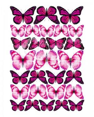 Вафельные картинки «Бабочки» (5)