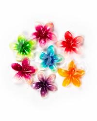 Вафельные цветы «Лилии», крупные, микс