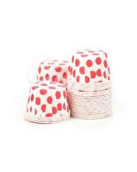 Капсулы для выпечки с рисунком Красный Горошек, 50x39 мм