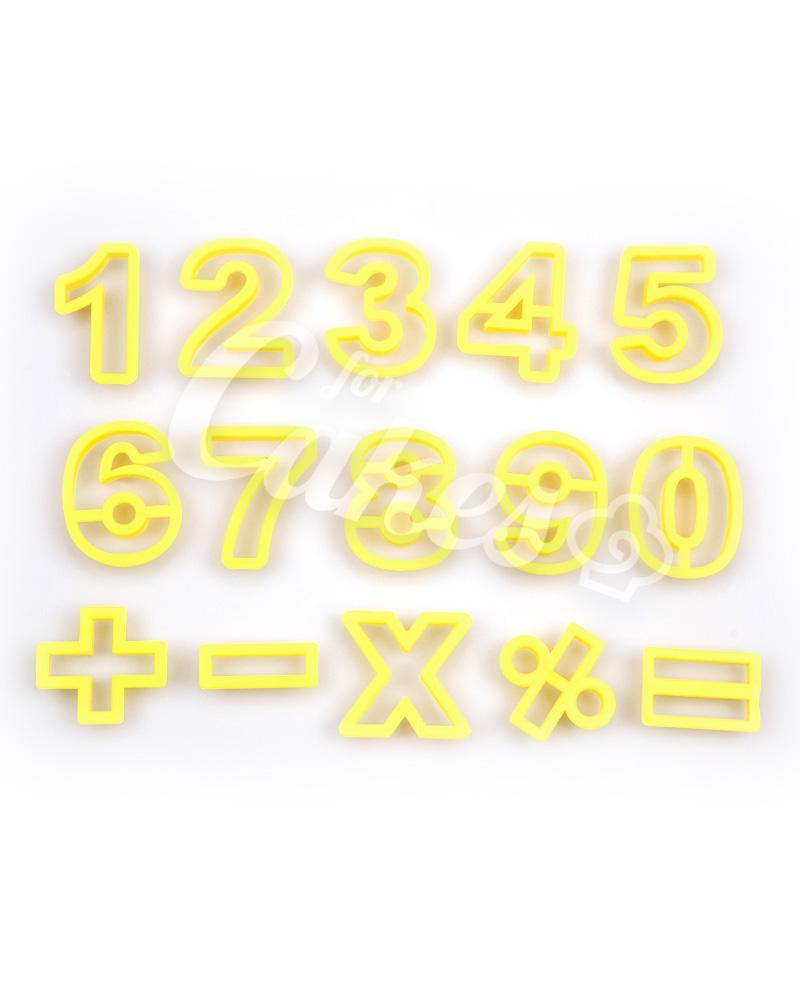 cc400206a Вырубки Цифры для мастики и теста, Италия - купить Выемки букв, цифр ...