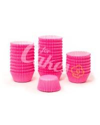 Капсулы бумажные для оформления и выпечки (тарталетки) однотонные Малиновые, 1000 шт