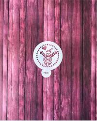 Трафарет-пленка для пряников, кофе «Санта Клаус», Китай