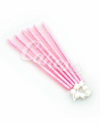 Набор свечей для торта с розовыми блесками длинные