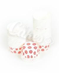 Капсулы для выпечки с красным рисунком, 60x40 мм