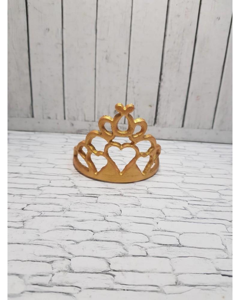Сахарная фигурка из мастики «Корона для Принцессы» золотая, Казахстан