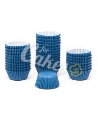 Капсулы бумажные для оформления и выпечки (тарталетки) однотонные Синие, 1000 шт