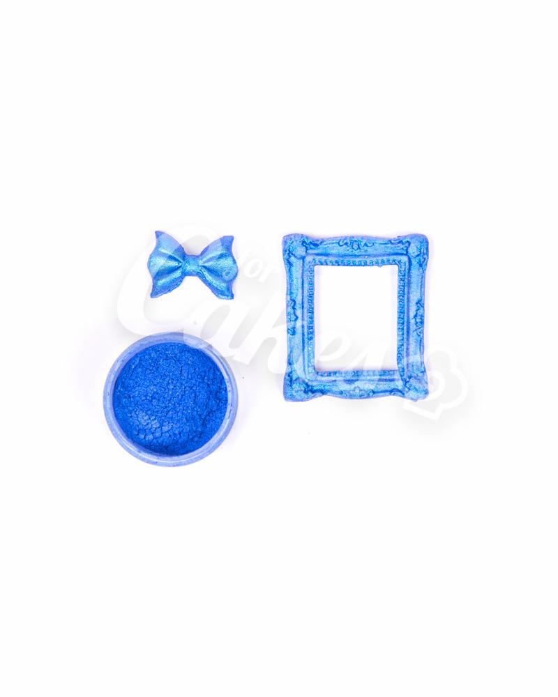 Кандурин - пищевые блестки, Цвет «Синий Блеск»