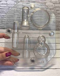 Поликарбонатная 3D форма для шоколада «Косметика»