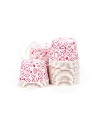 Капсулы для выпечки с рисунком розовые спиральки , 50x39 мм