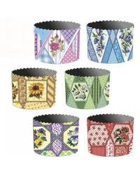 Формы для выпечки куличей бумажные «Мoзайка», размер (дно 124 мм/высота 100 мм)
