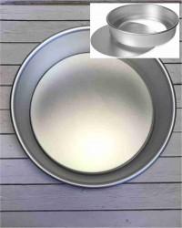 Алюминиевая форма для выпечки со съемным дном, 250х235х80 мм, 10inch