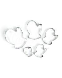 Вырубки для пряников, печенья «Варежка», набор из 5 шт