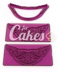 Вырубки для мастики с узором для украшения боковины торта, для пинеток из мастики, Италия