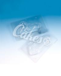 Трехмерная пластиковая форма для шоколада «Санта на Машине», Италия