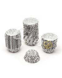 Капсулы бумажные для оформления и выпечки (тарталетки) белые с  черным рисунком, 1000 шт