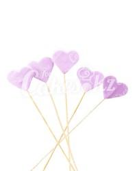 «Сердечки» на шпажках фиолетовые для надписей, Казахстан