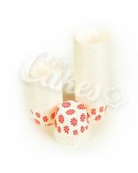 Капсулы для выпечки с красным рисунком, 50x39 мм