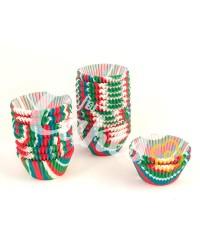 Капсулы бумажные для оформления и выпечки (тарталетки) с цветным  рисунком, 1000 шт