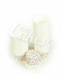 Капсулы для выпечки в разноцветный горошек, 50x39 мм