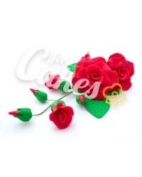 Сахарные цветы из мастики «Букет на проволоке - Розы Красные», Казахстан