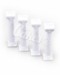 Столбики пластиковые в Греческом стиле для многоярусного торта, малые
