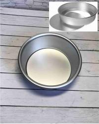 Алюминиевая форма для выпечки со съемным дном, 150х140х68 мм, 6inch