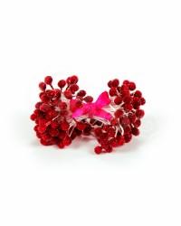 Хрустальные тычинки для цветов из мастики «Красные», Китай
