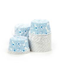Капсулы для выпечки с рисунком голубые спиральки, 60x40 мм