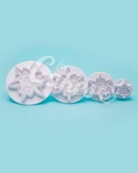 Плунжер  для мастики  «Снежинка, Пятиконечный Цветок», Китай