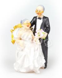 Керамические статуэтки Жениха и Невесты Пожилые, Золотая Свадьба, Бриллиантовая Свадьба
