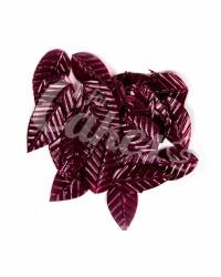 Вафельные листики «Лист Ясеня», мелкий, цвет бородовый