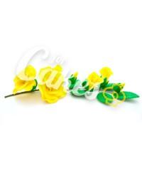 Сахарные цветы из мастики «Букет на проволоке - Розы Желтые», Казахстан