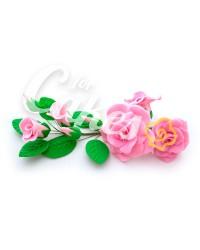 Сахарные цветы из мастики «Букет на проволоке - Розы Розовые», Казахстан