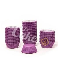 Капсулы бумажные для оформления и выпечки(тарталетки) однотонные Фиолетовые, 50 шт