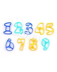 Пластиковые формочки для пряников и мастики Цифры, Русский Алфавит