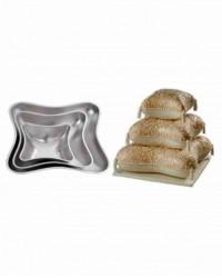 Алюминиевая форма для выпечки «Подушка», набор 3 шт