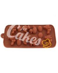 Силиконовый молд для шоколада, карамели, мастики, айсинга «Уточка, Пасхальное Яйцо, Зайчик», Китай