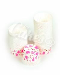 Капсулы для выпечки с розовым рисунком, 60x40 мм