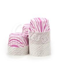 Капсулы для выпечки с рисунком фиолетовые полоски, 60x40 мм